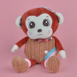 Wholesale Monkeys Toys Brands - 35-45cm Brown Color Rainbow Monkey Brand New Soft Stuffed Aniamls Plush Toy, Baby Kids Brithdat Party Doll Gift Free Shipping