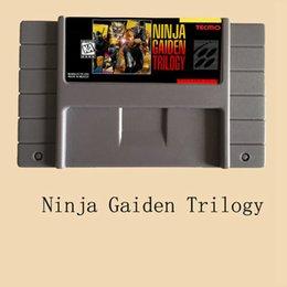 Wholesale Ninja Cards - Ninja Gaiden Trilogy 16 Bit 46 Pin Big Gray Game Card for NTSC Game Console