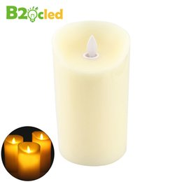 Wholesale Simulation Candle Light - Wholesale- LED swing candle electronic candle light flame swing high simulation paraffin candles Restaurant Bar wedding lamp night light