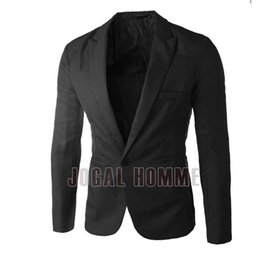 Wholesale Slim Suit Jacket Leather Sleeves - New Spring Fashion Men's Leather Suit Casual Slim Fit Jackets Design Men's Quality Blazers Men Brand Men Dress Suits High Quality