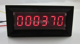 Wholesale Panel Counter - Wholesale- 6 Digit Red LED Counter Panel Meter DC 8-12V Up Plus Totalizer 0-999999