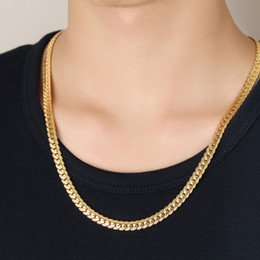 Wholesale Indian Luxury Pearls Jewelry - Luxury 76cm Long Chain Necklace 18K Gold Plated Chain Necklace for Men Women HIPHOP Men Necklace Chain Hot Jewelry Gift NL-260