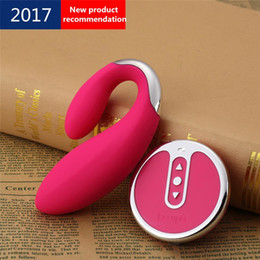 Wholesale Wireless Sex Eggs - New Pretty Love Indulgence Silicone Wireless Remote Control Vibrator dual vibrators bullet egg Adult Sex Toys For Couples rechargeable