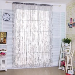 Wholesale Door Hotel - Fancy Glitter Sequins String Curtain Panels for Door Window Events Decor with Modern Creative Stripe fringe Design