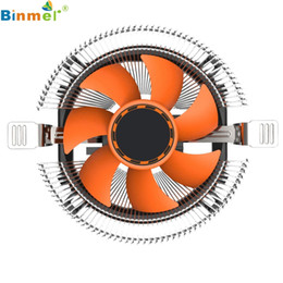 Wholesale Heatsink Fan 775 - Wholesale- Hot-sale BINMER Computer Fan 10.3 x 4.9cm Case CPU Cooling Cooler Fan Heatsink 7 Blade For Intel LGA 775 1155 1156 AMD 754 AM2