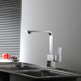 Wholesale Beautiful Taps - BAKALA New Single Handle For Kitchen Beautiful Square Swivel 180 Kitchen faucet Mixer Tap G-8053