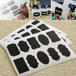 Wholesale Decal Labels - 4 Style Chalkboard Sticker Labels Vinyl Kitchen Wall Sticker Jar Decor Decals PVC Wine Glass Drink Cup Label Kids Adult Gift WX9-116