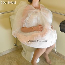 Wholesale Drop Shipping Dresses - Bridal Buddy Wedding Dress Petticoat Underskirt Save You From Toilet Water gather skirt for toilet Wedding Accessories Drop Ship