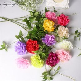 Wholesale Decorations For Shops - 50PCS LOT Dahlia silk flower heads DIY artificial wedding flower use for arch wall decoration for shop window hotel background