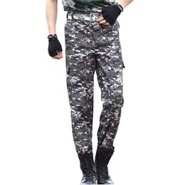 Wholesale Cheap Cargos - Wholesale- TG6336 Cheap wholesale 2016 new Men's cargo pants wear loose straight thin trousers camouflage more casual pants pocket