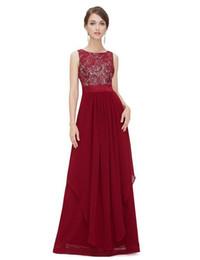 Wholesale Asymmetrical Chiffon Dress Xxl - Fashion Dress Women Chiffon Stitching Lace Sleeveless Vest Dress Long Dresses 6 color S-XXL High Quality