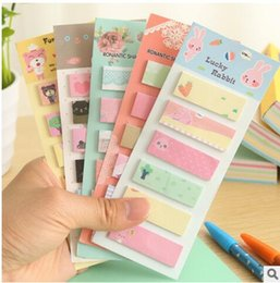 Wholesale Memo Flags - 2017 New PASAYIONE Korean Stationary Cute Sticker School Supplies Memo Flags Mini Sticky Notes Memo Pad Girls Gifts Paperlaria