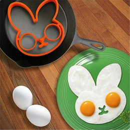 Wholesale Rabbit Silicone Mold - Silicone Egg Mold DIY Fried Egg Mould Ring Cooking Kitchen Breakfast Tools Rabbit Owl Skull Egg Holder Tray