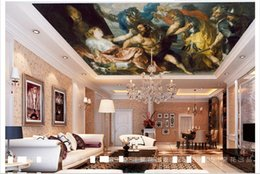 Wholesale Modern Nursery Pictures - 3D ceiling wallpaper custom picture mural wall European character oil painting ceiling zenith murals 3D ceiling wallpaper Free shipping