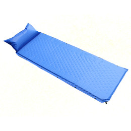 Wholesale Automatic Inflatable Air Mattress - Wholesale- Outdoor Air Mattress Inflatable Beach Picknick Mat Camping Bed Tent Mat Sleeping Pad Cusion Blanket Can Be Spliced