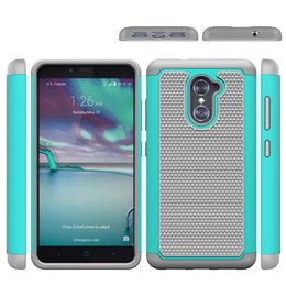 Wholesale Elite Cases - Shockproof 2 in 1 Rugged Mesh Rubber CaseFootball Skin Silicone Case Cover For ZTE Prestige ZMAX 2 Obsidian Warp Elite Axon Speed