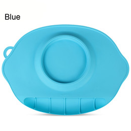 Wholesale Wholesalers Feeding Plates Bowls - Foldable silicone sucker bowl Baby Silicon Plate Sucker Slip-resistant Baby Silicone Bowl Dishes Mat Feeding Bowl Cup Non-slip Mat Pad