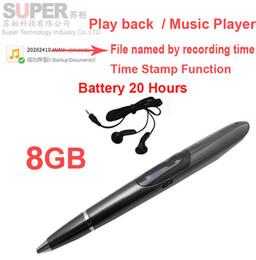 Vendita all'ingrosso- Lettore musicale da 8 GB S1 Registratore vocale per lettore MP3 con batteria con attivazione del timbro temporale 20H funziona con lettore di memoria flash da macchina fotografica nascosta dell'istantaneo del usb fornitori