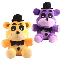 Wholesale midnight suit - 2017 new men and women all ages midnight palace five Nights gold teddy bear Freddy plush doll three colors optional