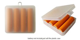 Wholesale Portable Battery Storage - Home Organization box Portable Hard Plastic Battery carry Case Holder PP 4pcs 18650 batteries cell Storage Case Boxes with Hook Holder bins