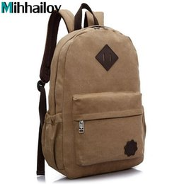 Wholesale Backpacks Offers - Wholesale- Special Offer Casual Canvas Men's Backpacks Students School Bag High Quality All-Match Large Capacity Vintage Travel Bags B70492