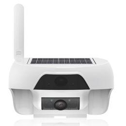 câmera de visualização ao vivo Desconto 720 P Móvel Solar WiFi PIR Câmera com LED Infravermelho para Ao Ar Livre IP55 À Prova D 'Água Movimento Detectar Remotamente por APP Gratuito