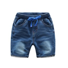 Wholesale Wholesale Corduroy Jeans - 2017 Hot selling Children's wear jeans pants children's wear panty children boy 1 2 Knee Length of casual pants Bull-puncher knickers