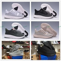 Wholesale Art Cardboard - Wholesale 2017 Mens Womens Originals Tubular Shadow Knit Core Black White Cardboard Sneakers Running Shoes 350 boost 3D Sneakers 5-10