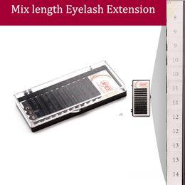 Wholesale Mixed Tray Eyelash - 4 Trays Lot All Size Mix Length Fake Eyelash Extension Natural False Eyelashes Individual Eye Lashes Free Shipping
