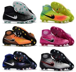 Wholesale High Ankle Boots For Men - 2017 Mens Magista Obra II 2 FG AG Soccer Cleats With ACC High Ankle Magistas Soccer Shoes For Men Outdoor Football Boots 39-45