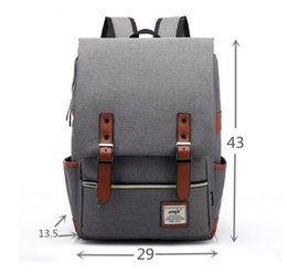 Wholesale Hot Style Laptop Bags - 2017 hot sell fashion students school bags Laptop Backpack Computer Bag canvas Leisure travel backpack simple style