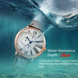 Wholesale Business Week - New 2017 Hot Luxury EYKI Brand Men Chronograph Quartz Watches Week Date Clock Genuine Leather Strap Male Business Wristwatch Saat Clock