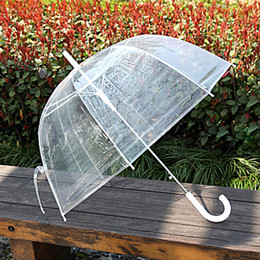 Wholesale Clear Plastic Umbrellas Wholesale - Clear Umbrella Stand Colorful Canopy Transparent Umbrella For Wholesale Long Handle Vintage Umbrella For Girls Women Dance Performance Best