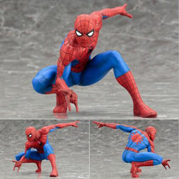 Wholesale Marvel Amazing Spiderman - The Amazing Spider-Man Marvel The Avengers Spiderman Statue 1 10th scale PVC Action Figure Figurine playset Toy Childern Kids Gift