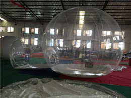 Wholesale Inflatable Field - Wholesale- Outdoor Transparent Inflatable Bubble Tent Clear Camping Tent Crystal Bubble Tent