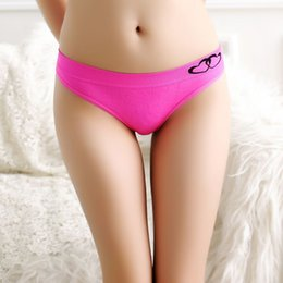 Wholesale Heart Print Panties - New Arrival Print Heart Cotton Panties Women's Sexy Thongs Underwear T Back Fashion G-string For Ladies