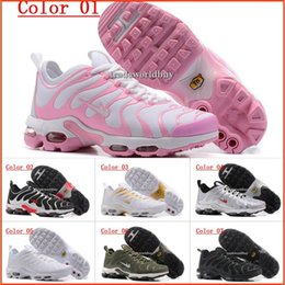 Wholesale Ladies Tennis - New Hight Quality Women's Air Cushion Ultra TN Running Shoes Black White Womens Athletic jogging Tennis Shoes Lady Training Sports Sneakers