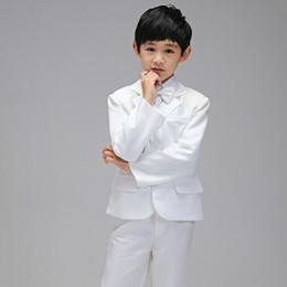2019 hochzeiten anzüge jungen mann White Gentle Boy Hochzeit Party Kleider Boy Anzug für Hochzeit Texudo für Kinder formelle Kleidung auf Lager Anzug für besondere Anlässe