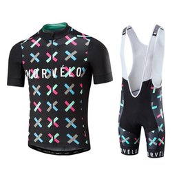 Wholesale Newest Summer Clothing - 2017 newest Summer Morvelo cycling Jersey and bib shorts 3D gel pad bicycle clothing ropa ciclismo bib set accept mix size E1903