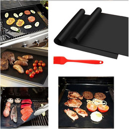 Wholesale Bbq Charcoal Grills - BBQ Grill Mat Durable Non-Stick Barbecue Mat 40*33cm Cooking Sheets Microwave Oven Outdoor BBQ Cooking Tool OOA1935