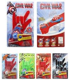 Wholesale Ironman Toys Avenger - Creative Toy Avenger Union Gloves Children's toys wrist launchers Captain Hulk Ironman Flyman spider-man funny toy 1