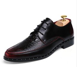 Wholesale Commercial Career - Men PU leather brand shoes commercial real leather male shoes fashion wedding shoes
