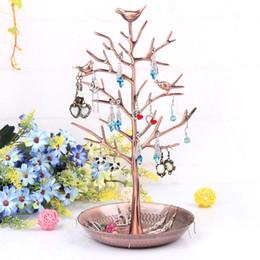 Gioielli porta orecchini online-Display a forma di albero nuovo stile gioielli orecchino stand ciondoli supporto dell'orecchio della cremagliera degli orecchini gioielli decorazione espositore
