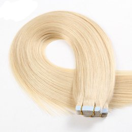 Wholesale Hair Dye Sets - 100% Virgin Russian Human Hair 2.5g piece 40 pieces set Mink Hair can dyed #613 adhesive Skin Weft PU Tape Hair Extension