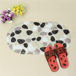 Wholesale Oval Carpets - Wholesale- Oval Bath Mat Rug Bathroom Cartoon Animal World Waterproof PVC Anti-skid Bathtub Bathroom Mat Toilet Carpet With Strong Suction