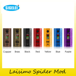 Wholesale Metal Warriors - Authentic Sigelei Laisimo 200W Spider TC Box Mod Laisimo Warriors Vape Mods Kit For Original 510 Thread tank Atomizers 100% Genuine 2207056