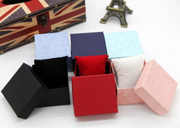 Wholesale Gift Paper Storage - New Fashion Watch Boxes Paper Square Wristwatch Case with Pillow Jewelry Display Bracelet Box Storage Gift Box