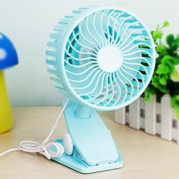 Wholesale Small Clip Fan - Wholesale- Small Desk Fan USB Mini Fans USB Mini Portable Clip Fan 3 Grear 360 Degree Rotate New Design USB