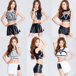 Wholesale Adult Women Dance Stage Costumes - 2017 Night Club Stage Costume Sexy Auto Show Model Girls Cosplay DS Jazz Dancing Uniform Adult Dress Women's Cheerleading Costumes 1397