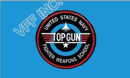 Wholesale Cm Gun - United States Navy Top Gun Flag 3ft x 5ft Polyester Banner Flying 150* 90cm Custom flag